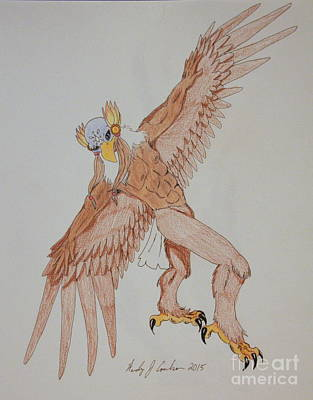 Harpy Eagle Drawing - Eagle Dancer by Wendy Coulson