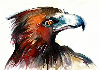 Tete Painting - Eagle Head Detail Xxl by Tiberiu Soos
