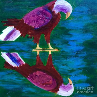 Painting - Eagle by Donald J Ryker III