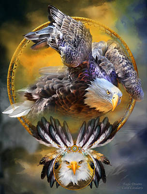 Mixed Media - Eagle Dreams by Carol Cavalaris