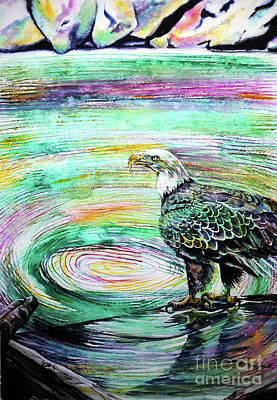 Painting - Eagle Drop by Tracy Rose Moyers