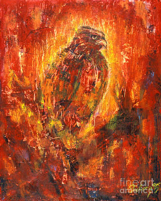Painting - Eagle Eye - Bgeye by Fr Bob Gilroy SJ