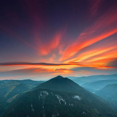 Mountain Sunset Photograph - Eagle Eye by Evgeni Dinev
