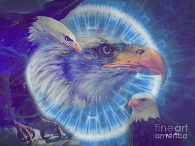 Digital Art - Eagle Eyed by Maria Urso