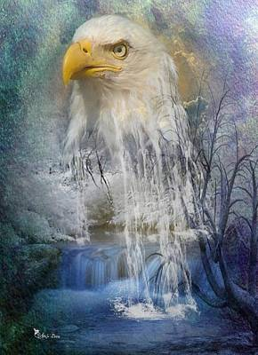 Digital Art - Eagle Falls by Ali Oppy