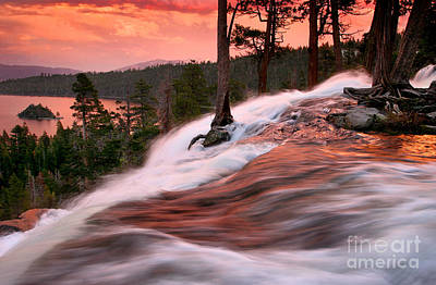 Eagle Falls Evening Art Print by Buck Forester