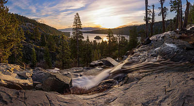 Photograph - Eagle Falls Morning Glow By Brad Scott by Brad Scott