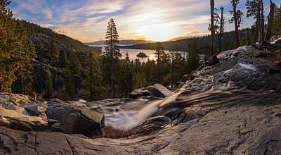 Photograph - Eagle Falls Morning Glow By Brad Scott by Brad Scott