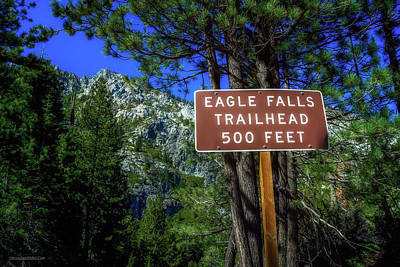 Photograph - Eagle Falls Trailhead by LeeAnn McLaneGoetz McLaneGoetzStudioLLCcom