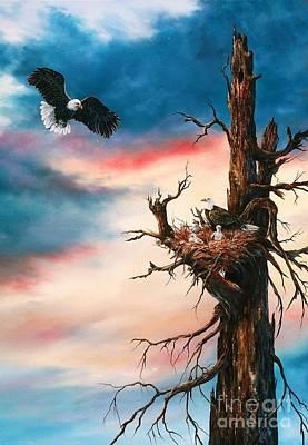Eagle Family Art Print by Jean Harrison