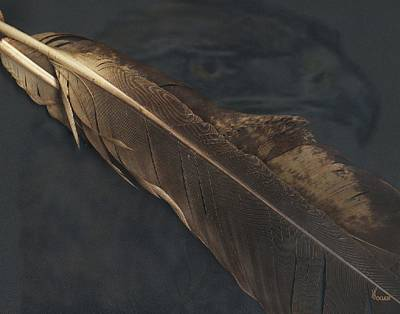 Native Digital Art - Eagle Feather by Will Logan