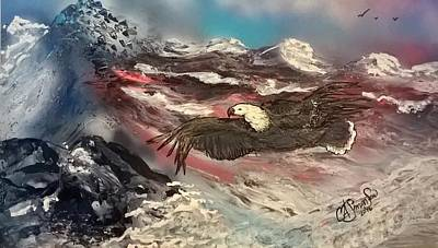 Painting - Eagle Flight by CA Simonson