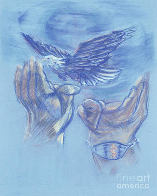 Painting - Eagle Flying In Freedom - Bgeff by Fr Bob Gilroy SJ