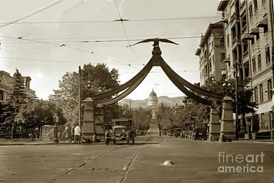 Photograph -  Eagle Gate, Salt Lake City, Utah Circa 1920 by California Views Archives Mr Pat Hathaway Archives