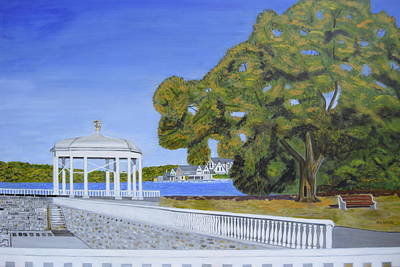 Eagle Gazebo Art Print by Michael Walsh