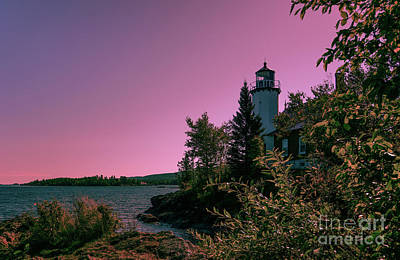 Photograph - Eagle Harbor Fading Light by Rachel Cohen