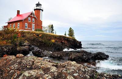 Photograph - Eagle Harbor Light by Terri Gostola