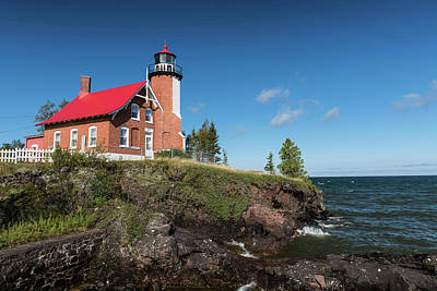 Photograph - Eagle Harbor Lighthouse by Linda Shannon Morgan