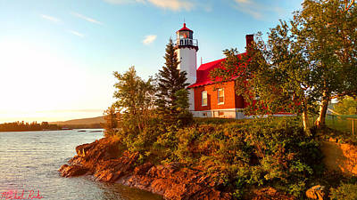Photograph - Eagle Harbor Lighthouse by Michael Rucker
