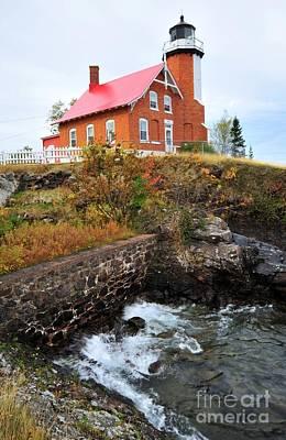 Photograph - Eagle Harbor Lighthouse On Lake Superior by Terri Gostola