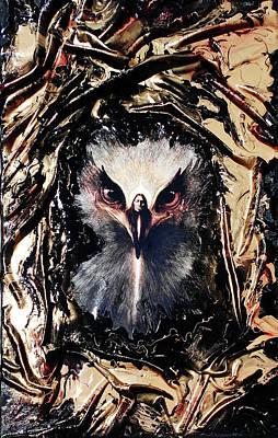 Mixed Media - Eagle Healer by Angela Stout