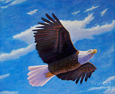 Eagle Painting - Eagle Heart II by Brian  Commerford