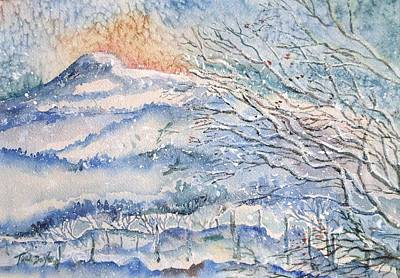 Painting - Eagle Hill, Snow Falling Softly . by Trudi Doyle