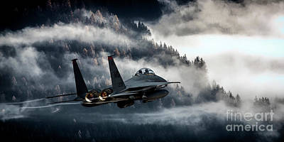 F15 Wall Art - Digital Art - Eagle Hunter by J Biggadike
