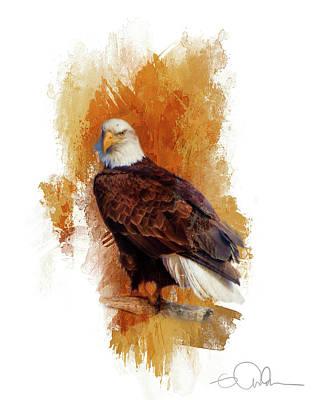 Digital Art - Eagle In A Tree by Gloria Anderson