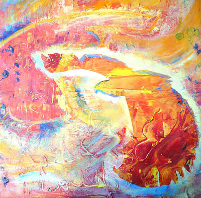 Amulets Painting - Eagle In Flight  by Dagmar Batyahav
