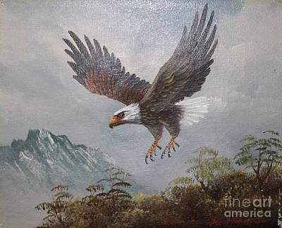 Painting - Eagle In Flight by Bill Hubbard