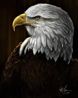 Digital Art - Eagle by Jonathan Carr