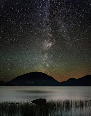 Photograph - Eagle Lake And The Milky Way by Brent L Ander