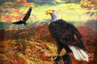 Digital Art - Eagle Medicine 2015 by Kathryn Strick