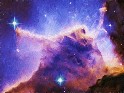 Eagle Nebula Painting - Eagle Nebula by Brian Goodwin