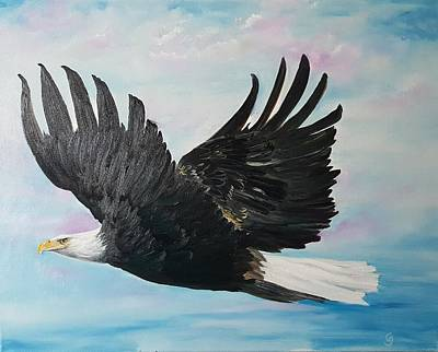 Painting - Eagle On A Mission      11 by Cheryl Nancy Ann Gordon