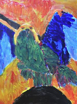 Painting - Standing Outside The Fire by Donald J Ryker III