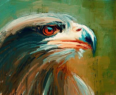 House Pet Digital Art - Eagle On Alert by Yury Malkov