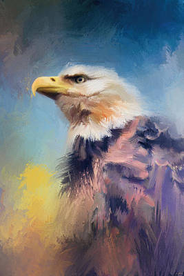 Painting - Eagle On Guard by Jai Johnson