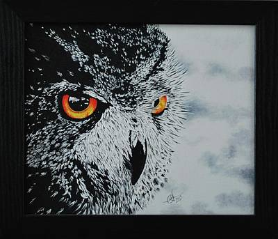 Painting - Eagle-owl Grand Duc by Benoit Charron