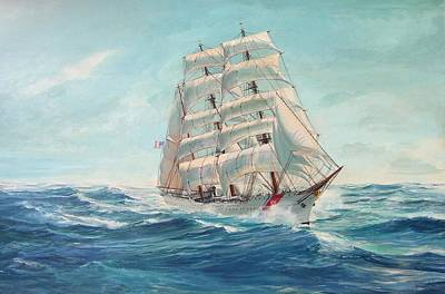 Painting - Sailing Eagle by Perrys Fine Art