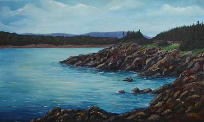 Eagle Point Cape Breton Island Nova Scotia Art Print by Sharon Steinhaus