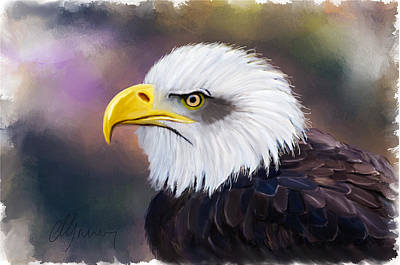 American Eagle Painting - Eagle Portrait by Michael Greenaway