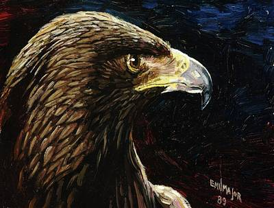 Eagle Profile Art Print by Emil F Major