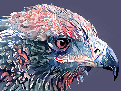 Digital Art - Eagle Profile by Yury Malkov