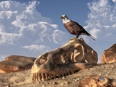 T-rex Digital Art - Eagle Rex by Daniel Eskridge