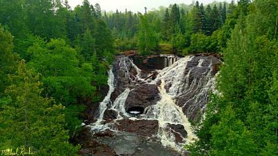 Photograph - Eagle River Falls, Michigan by Michael Rucker