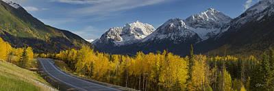 Chugach Mountains Photograph - Eagle River Road by Ed Boudreau