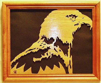 Scroll Saw Sculpture - Eagle by Russell Ellingsworth