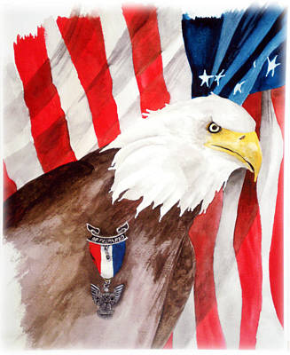 American Eagle Painting - Eagle Scout by Rosalea Greenwood